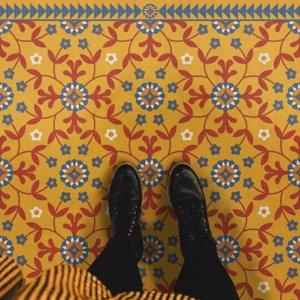 Vintage Vinyl Floorcloth - American Folk Art Museum Collection