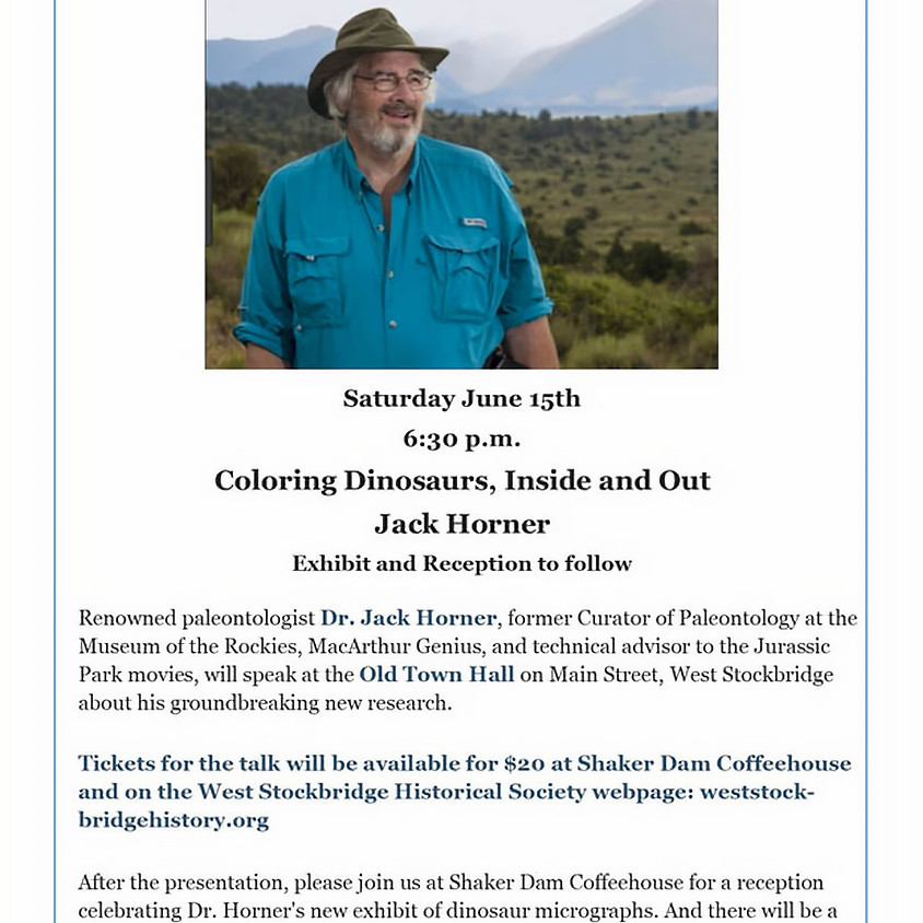 Coloring Dinosaurs, Inside and Out with Jack Horner