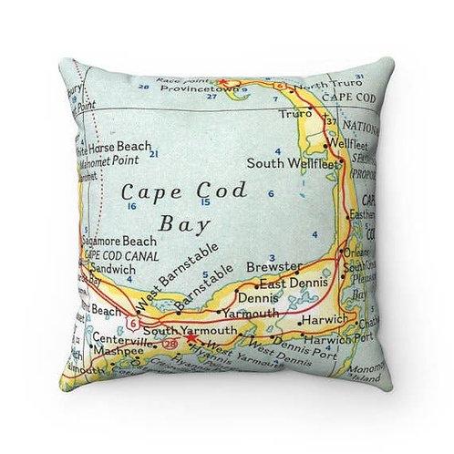 Cape Cod Map Pillow