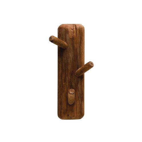 Reclaimed Wood 3-Hook Rack