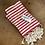 Thumbnail: Turkish Hand Towel Red Stripe Set/2