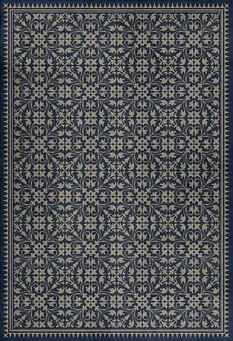 Vintage Vinyl Floorcloth - Pattern 21 Bandersnatch - 52x76