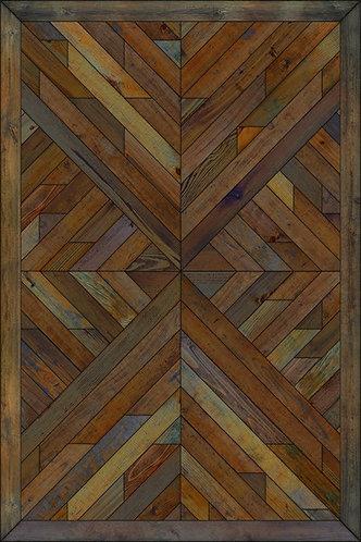 Vintage Vinyl Floorcloth - Norwegian Wood Nile Aura Valley - 20x30