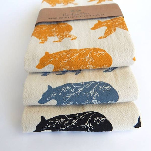 Bear Print Tea Towel