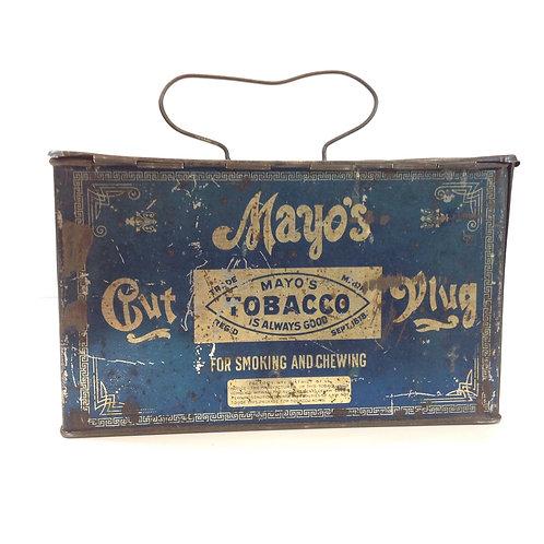 Vintage Mayo's Tobacco Tin with Handle