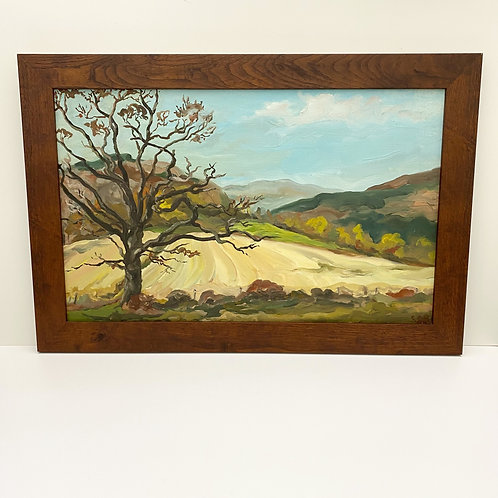 Vintage Oil Painting of Tyringham Valley by C. Beautyman