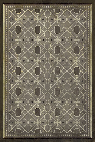 Vintage Vinyl Floorcloth Pattern 05 - Baker Street - 20x30