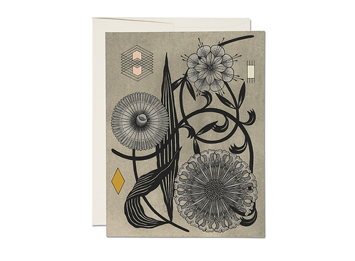 Floral Geometry Note Cards Set/8