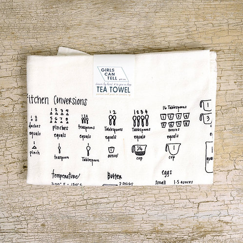 Kitchen Measurements Tea Towel