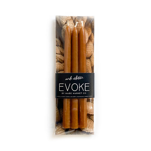 Skinny Taper Candle Set in Camel