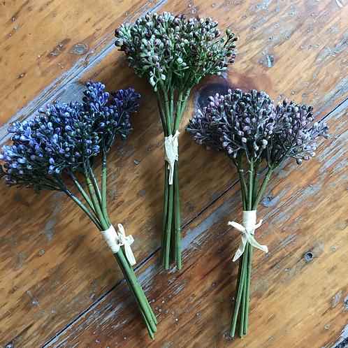 Sedum Flower Bundle Tied with Raffia