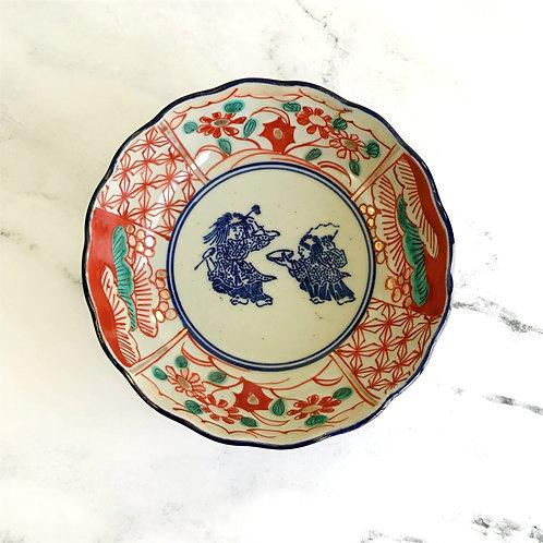 Polychrome Asian Bowl