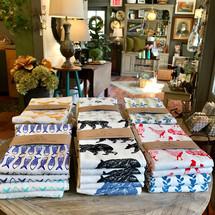 High Fiber Tea Towels Silk Screened