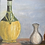 Thumbnail: Vintage Oil Painting of Bottle of Wine + Fruit