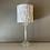 Thumbnail: Vintage Glass Lamp with Woodgrain Shade