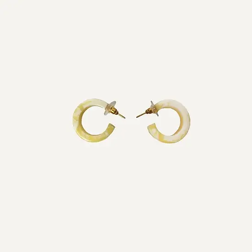 Tortoise Earrings in Lemon Meringue
