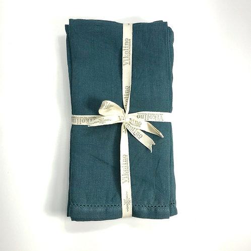 Linen Napkin Set/4 - Ocean Green