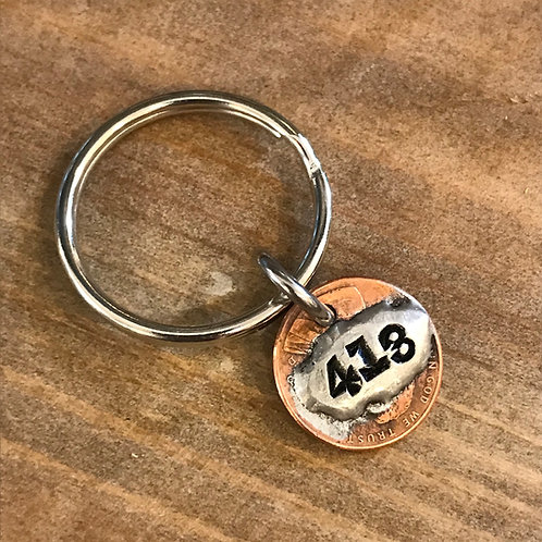 Berkshires 413 Area Code Key Ring