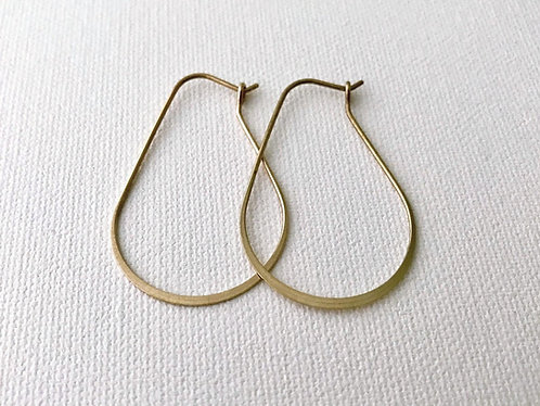 Brass Small Pear Earrings