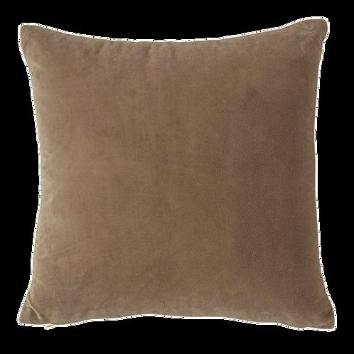 Mushroom Grey Velvet Pillow 20x20