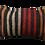 Thumbnail: Striped Red Brown + Black Kilim Pillow 12x20