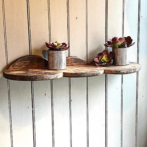 Reclaimed Breadboard Shelf