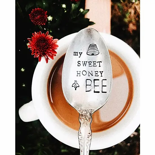 My Sweet Honey Bee Stamped Spoon