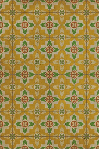 Vintage Vinyl Floorcloth Pattern 33 - Bright and Early - 20x30