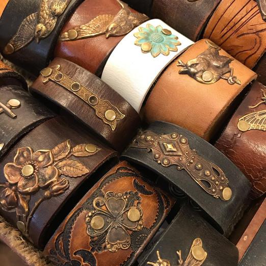 Leather Belt Bracelets