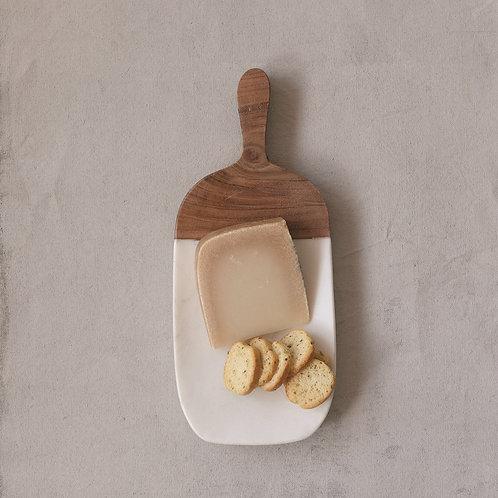 Marble + Wood Cheese Board