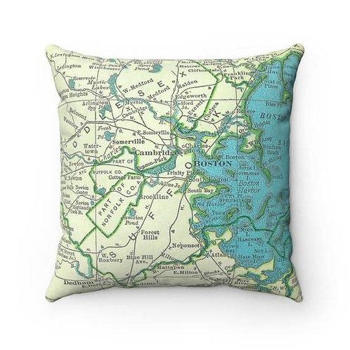 Boston Map Pillow