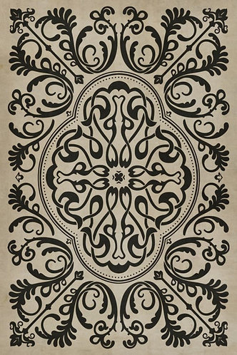 Vintage Vinyl Floorcloth - Pattern 39 Texas HoldEm - 20x30