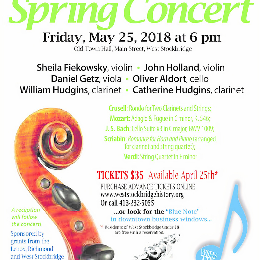 West Stockbridge Chamber Players' Spring Benefit Concert
