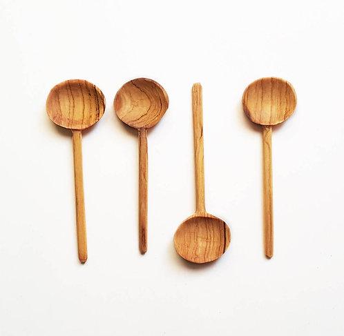 Olive Wood Coffee Spoon Set/4