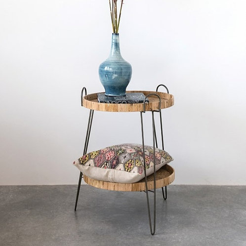 Rattan + Metal Table