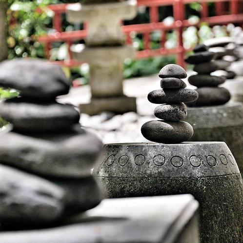 Balancing Stones - Maderia Blank Card