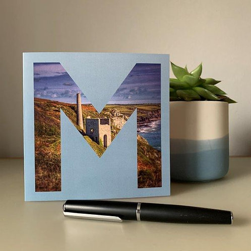 'M' Blank Card