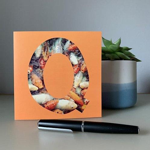 'Q' Blank Card