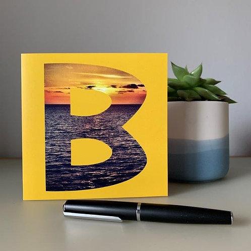 'B' Blank Card