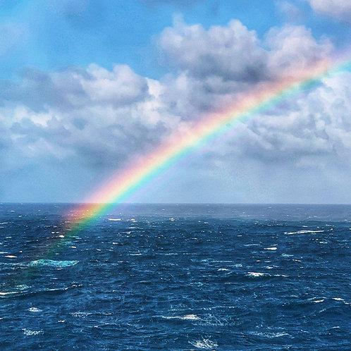 Stormy Rainbow Blank Card