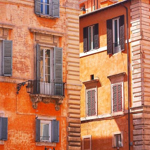 Rome Street Blank White Card