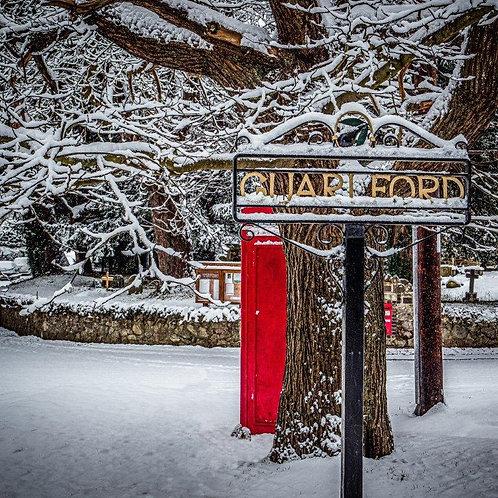 Snowy Guarlford Christmas Card