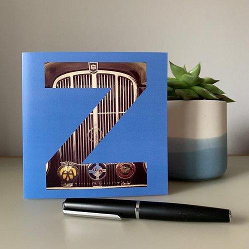 'Z' Blank Card