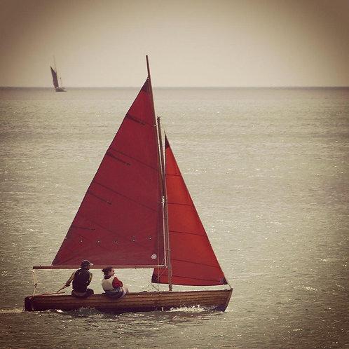 Sailing Fun - Cornwall Blank Card