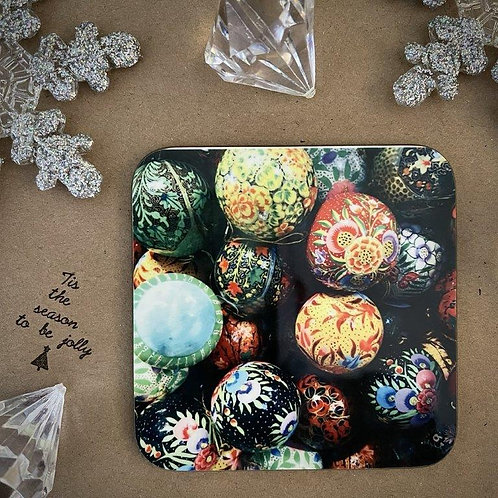 Painted Baubles Coaster