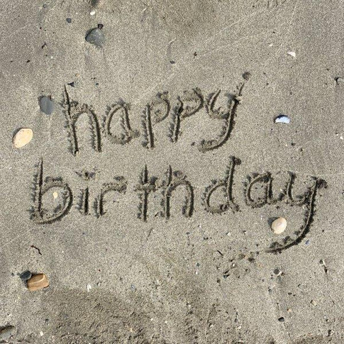 In the sand - Happy Birthday