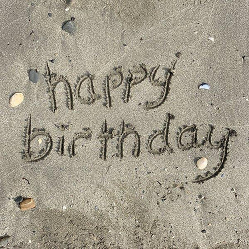 In the Sand - Happy Birthday Blank Card