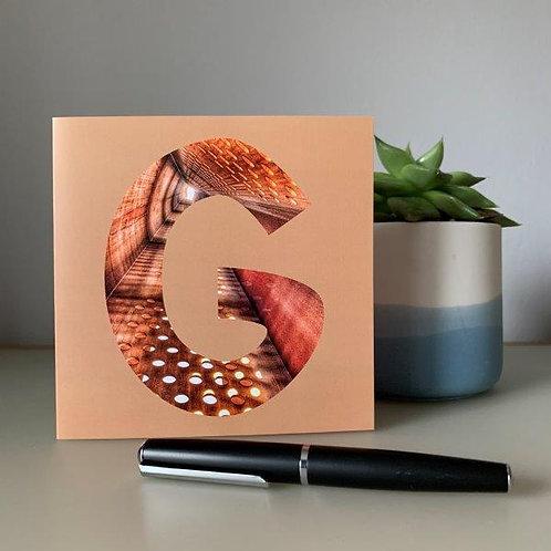 'G' Blank Card