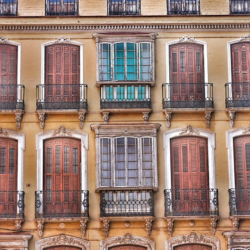 Windows and Shutters - Malaga Notecard