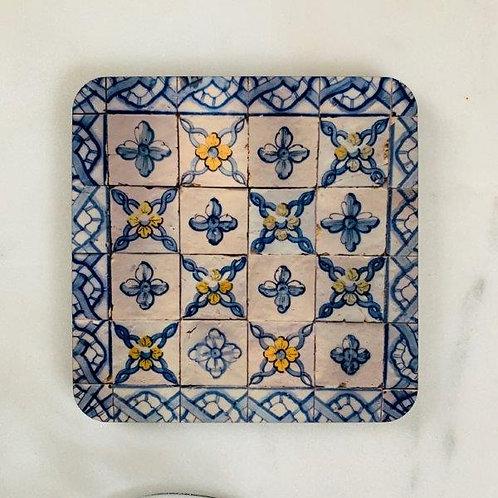 Lisbon Tiles - Blue Yellow Coaster